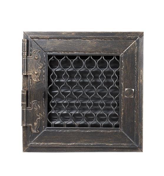 Grila aerisire RETRO mobila negru 17x17