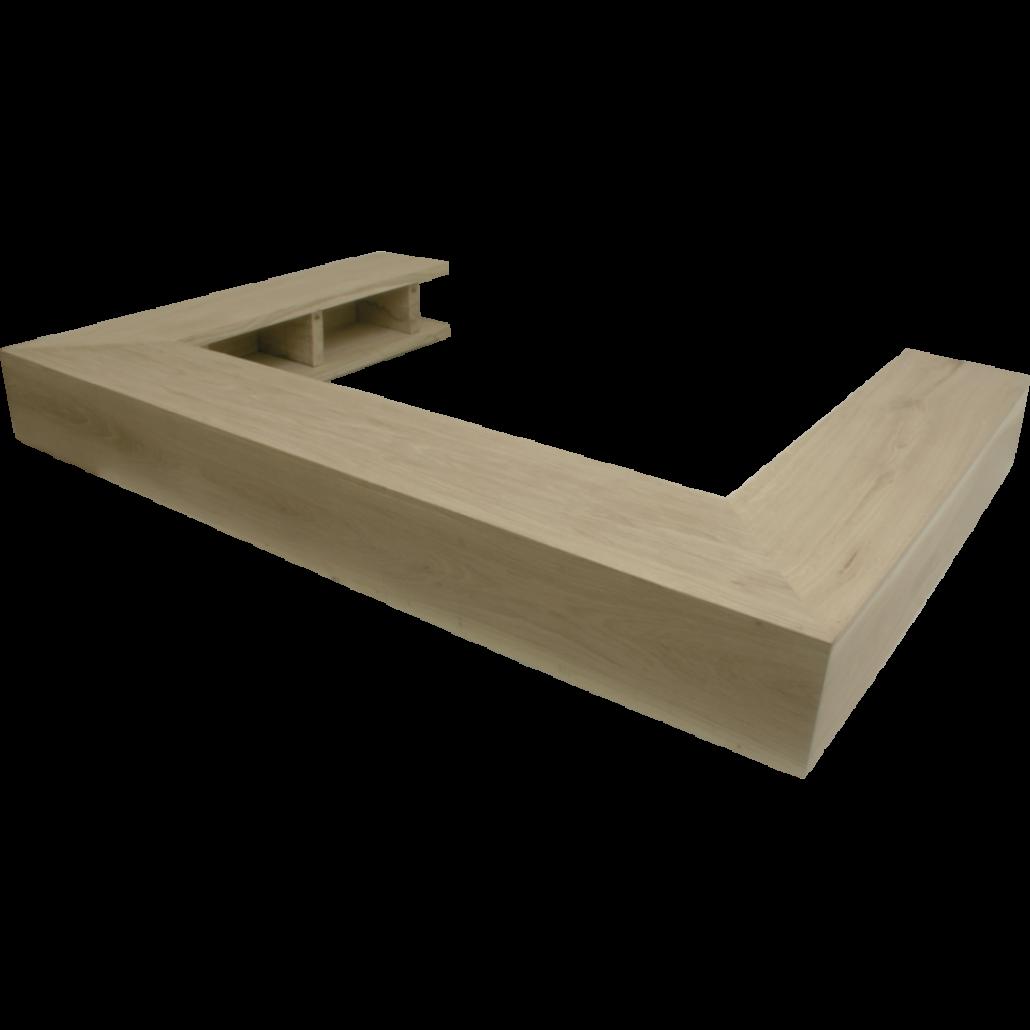 Brau de lemn 90gr. drept simplu - MEDIU