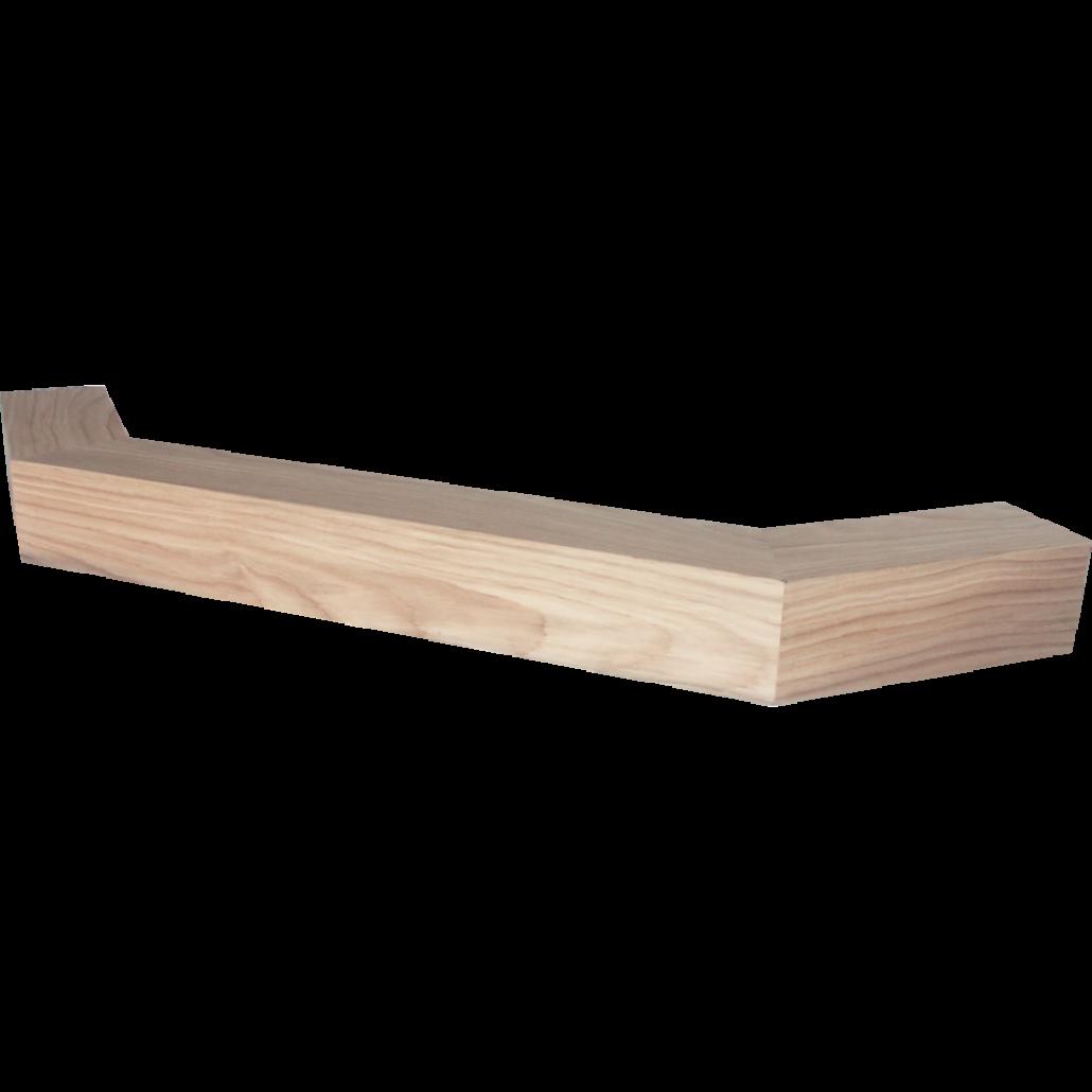 Brau de lemn 135gr. colt simplu -MARE