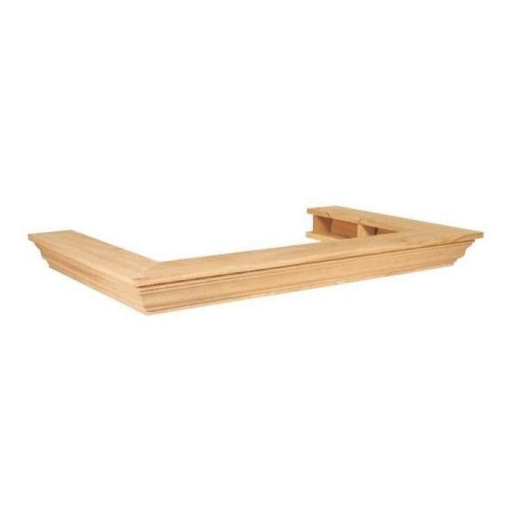 Brau de lemn 90gr. drept profilat -MIC