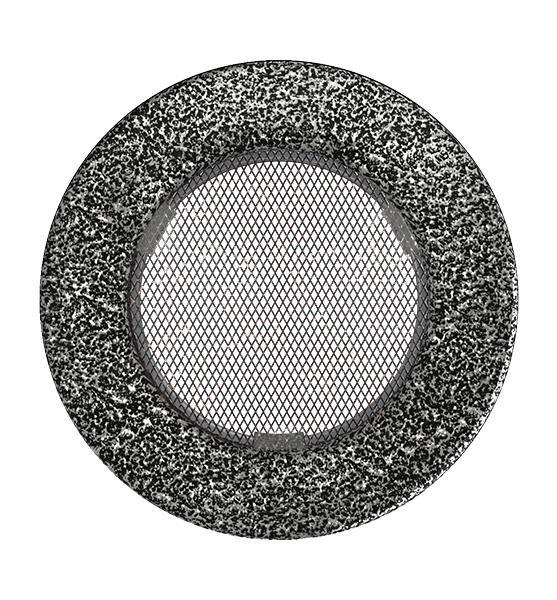 Grila rotunda NEGRU-ARGINTIU 100